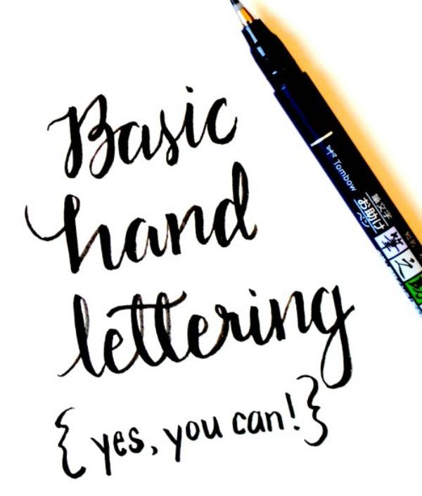Basic Hand Lettering Tutorial For Beginners