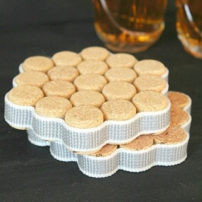 DIY Wine Cork Coasters tutorial