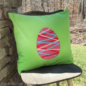 Rickrack Easter Egg Pillow Pattern
