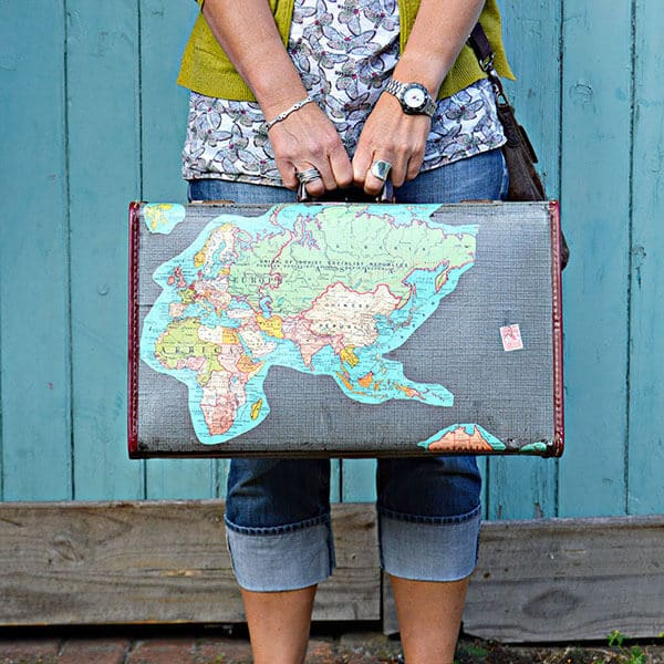 Brilliant vintage Map suitcase