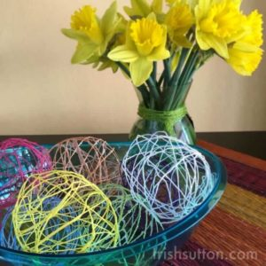 DIY Spring Decor: String Easter Eggs