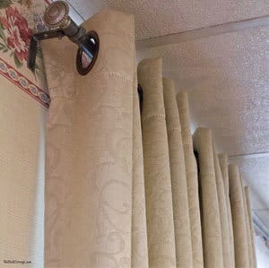 The Birch Cottage shares how to make a DIY curtain rod using electrical conduit. An inexpensive way to make a curtain rod for a picture window.