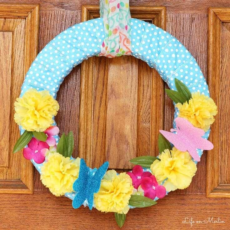 Dollar Store Spring Wreath