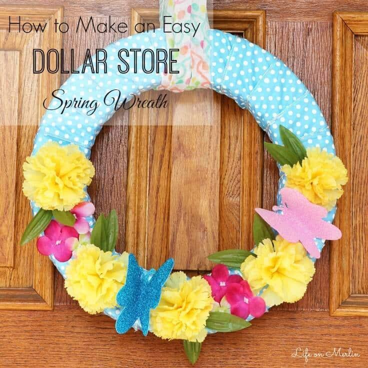 Dollar-Store-Spring-Wreath