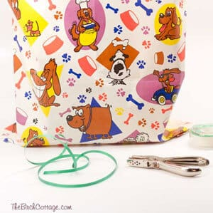 You can make a Gift Bag from Wrapping Paper! Follow the tutorial from The Birch Cottage.