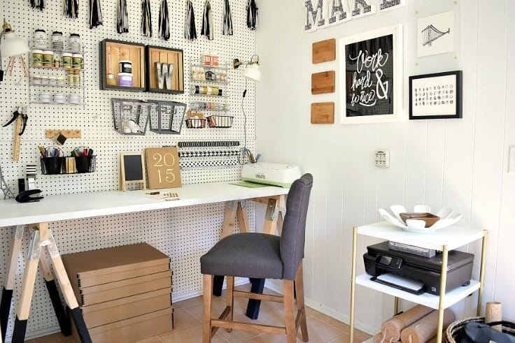 Craft Room and Laundry Room - Houseologie featured on Kenarry.com