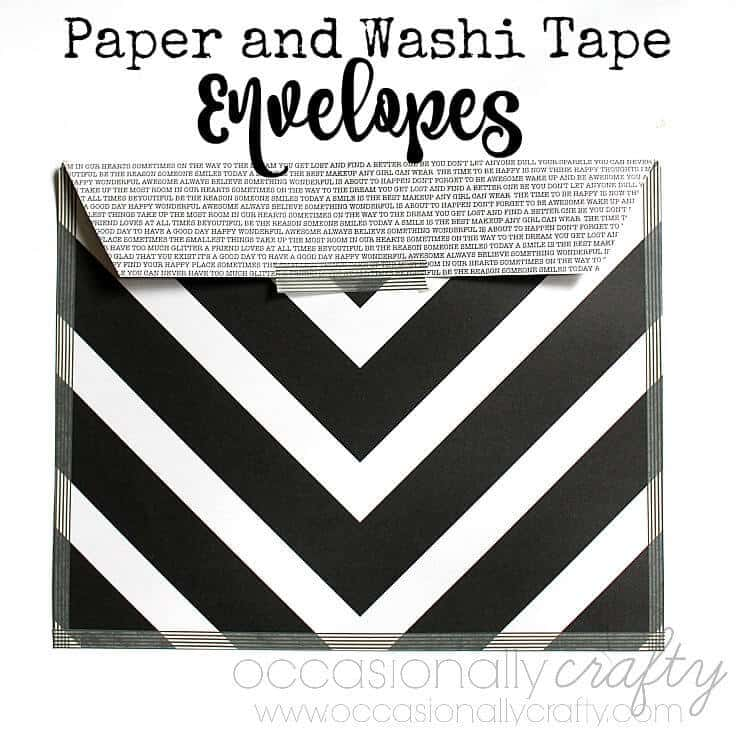 Scrapbook Paper and Washi Tape Envelopes