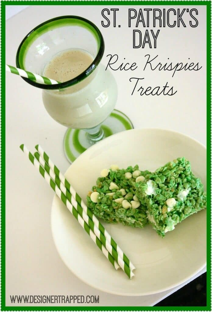 St. Patrick's Day Rice Krispie Treats - Designer Trapped in a Lawyer's Body - St. Patrick's Day Treats featured on Kenarry.com