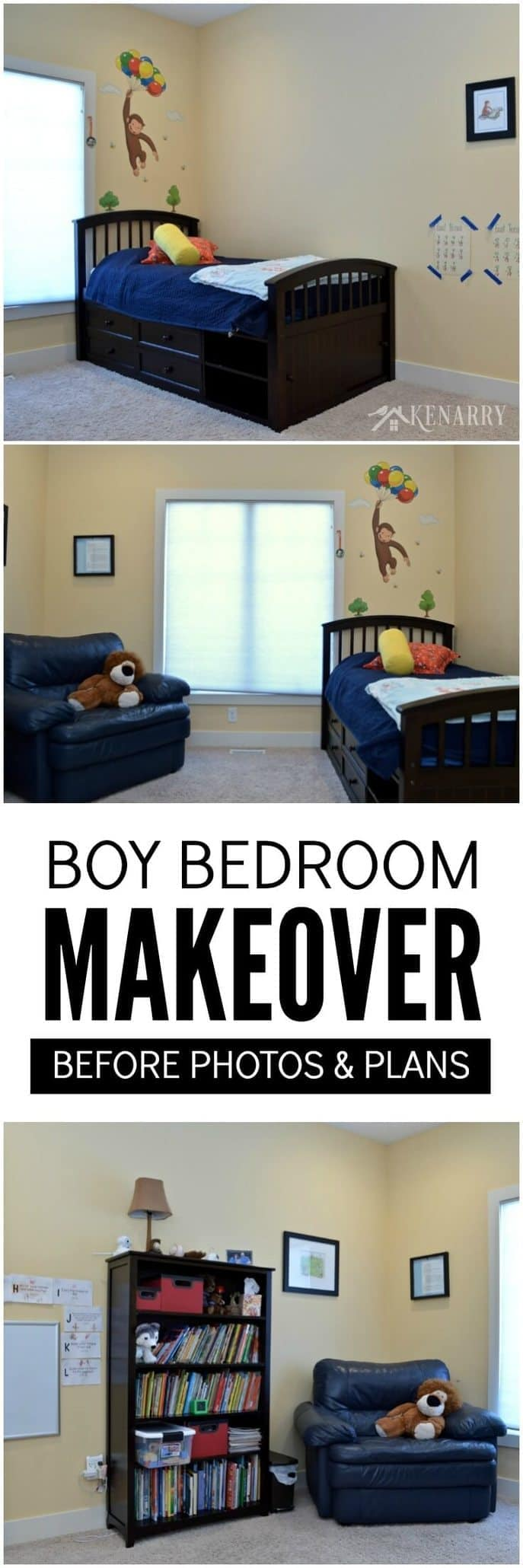 Boys Bedroom Plans Curious George To Outer Space