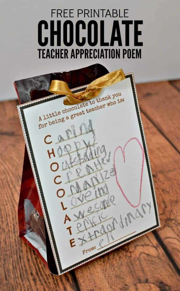 what a cute and easy idea for a teacher appreciation gift have your child write