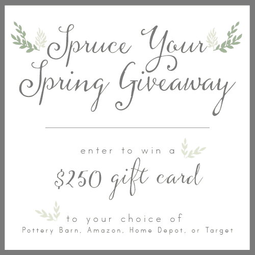 Spruce Your Spring Giveaway for $250 Gift Card