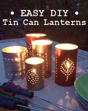 tin can lanterns