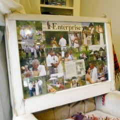 How to: Create a beautiful picture frame out of an old window!