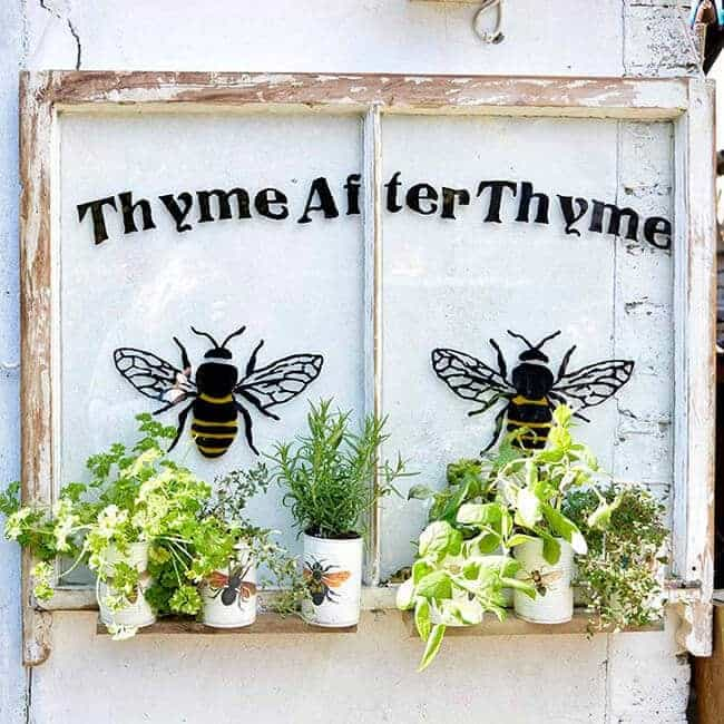 Fabulous Upcycled Window Herb Garden