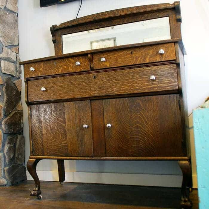 Claw foot buffet gets a fresh refinish and a new purpose!