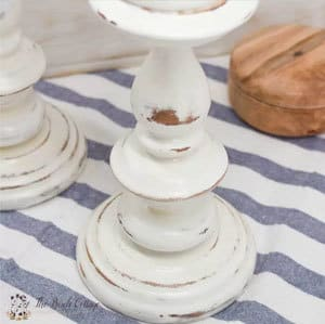 The Birch Cottage shares how to give new life to old candlesticks with a little bit of chalk paint magic!