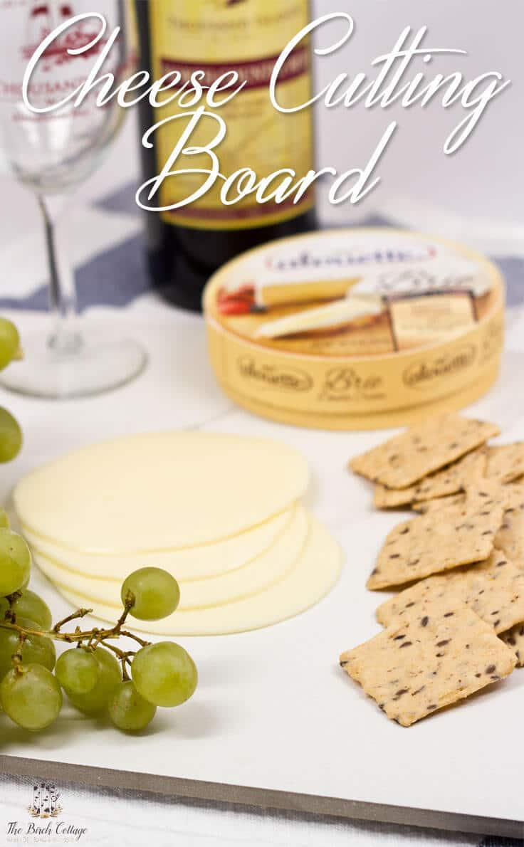 Cheese Cutting Board From Ceramic Tile