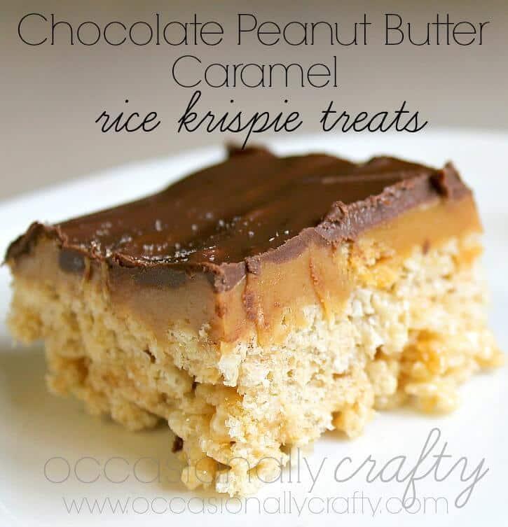 Chocolate Peanut Butter Caramel Rice Krispie Treats 4