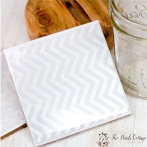 Follow this easy tutorial for DIY Coasters from ceramic tiles by The Birch Cottage.