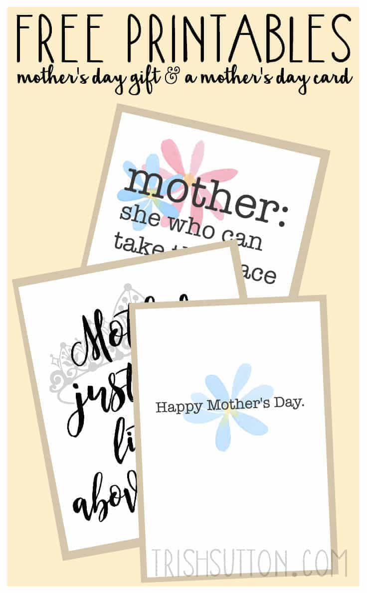 free printables mother 39 s day gift and card. Black Bedroom Furniture Sets. Home Design Ideas