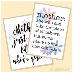 Free Printables: Mother's Day Gift and Card