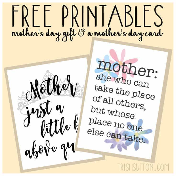 Printable Mothers Day Cards For: Free Printables: Mother's Day Gift And Card