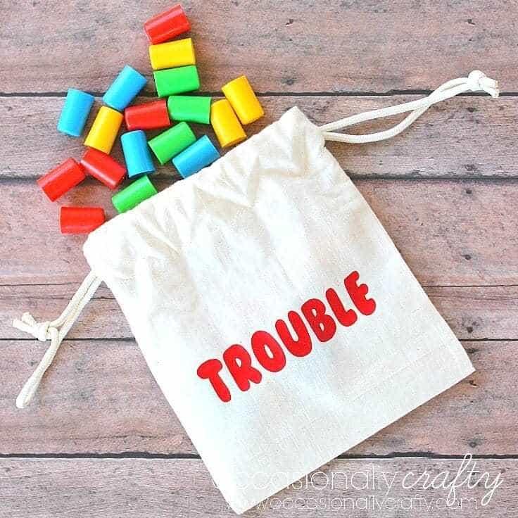 Game Piece Organization: DIY Drawstring Bags