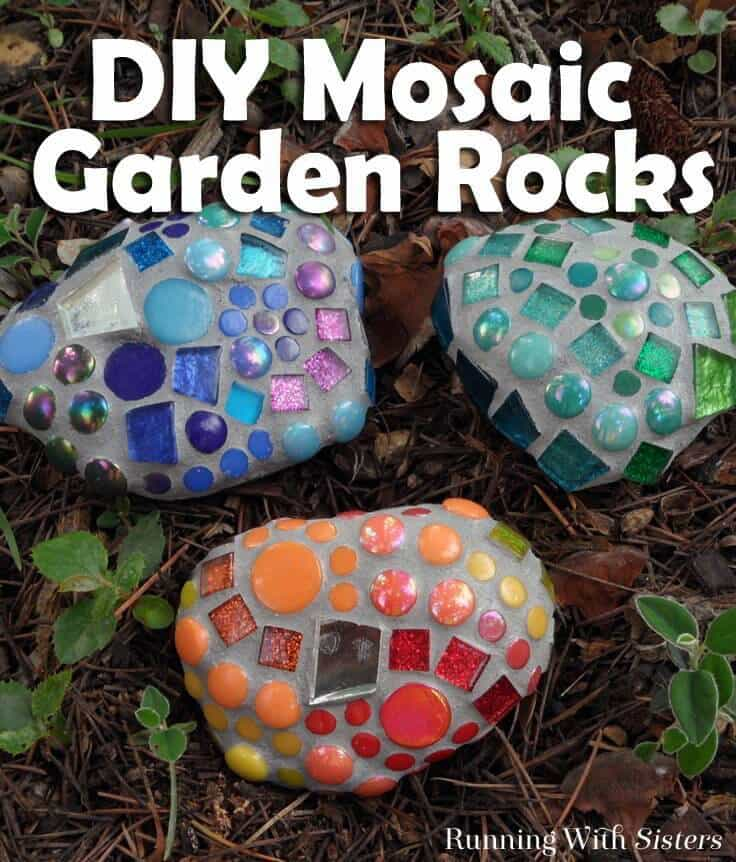 Mosaic garden rocks how to make garden mosaics make mosaic garden rocks to add a pop of color to the garden we solutioingenieria Gallery