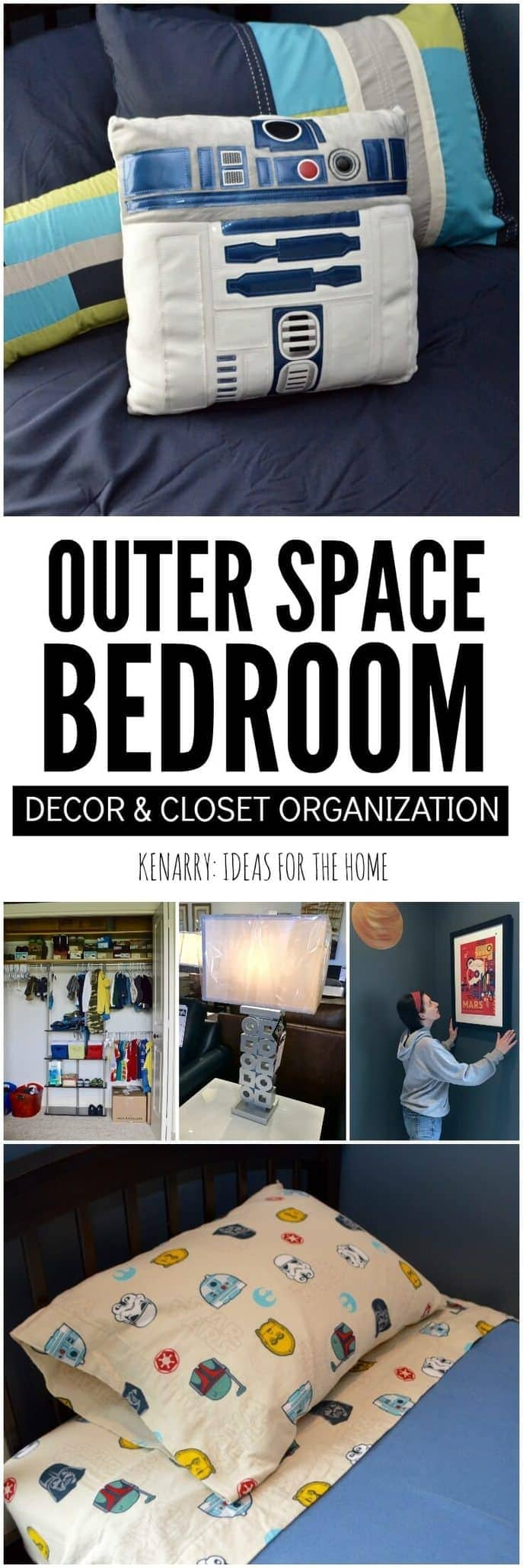 Outer space bedroom decor and closet organization for Outer space bedroom design
