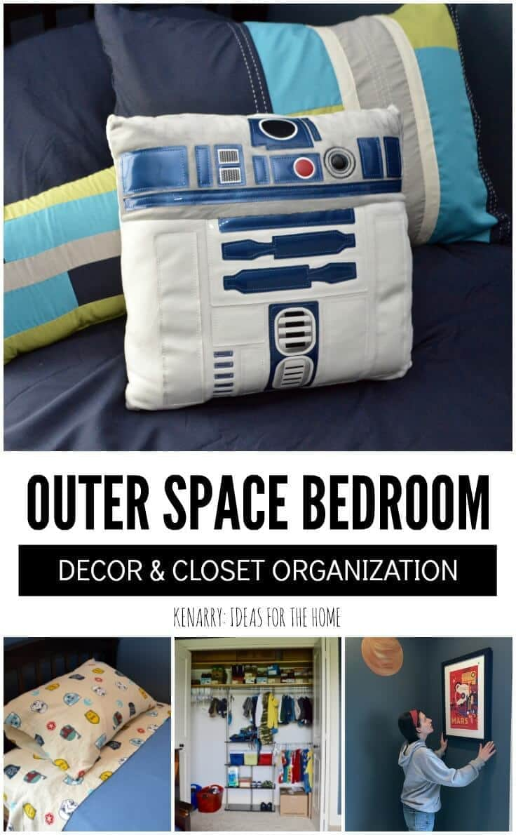 The kids will love these ideas for outer space bedroom decor including bedding, art, closet organization and other home accessories. Get ready to decorate a boys room that's out of this world.