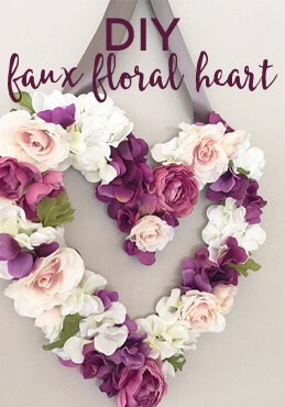 faux floral heart