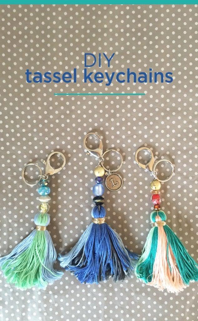 I Love You Mom Pendant Keyring Key Chain w// Tassel Handbag Decoration Gift
