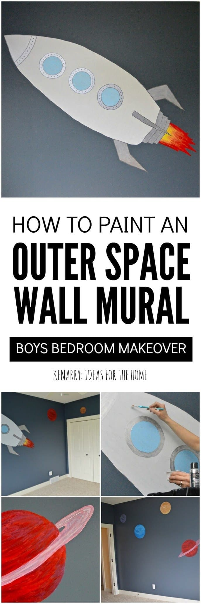 outer space mural tutorial for boys bedroom love this idea for creating an outer space bedroom for boys this tutorial makes it