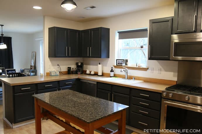 Kitchen Makeover from Petite Modern Life featured on Kenarry.com