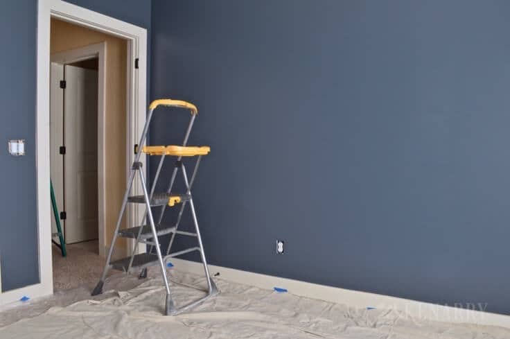 Outerspace paint creating a galactic change for Blue jean paint color