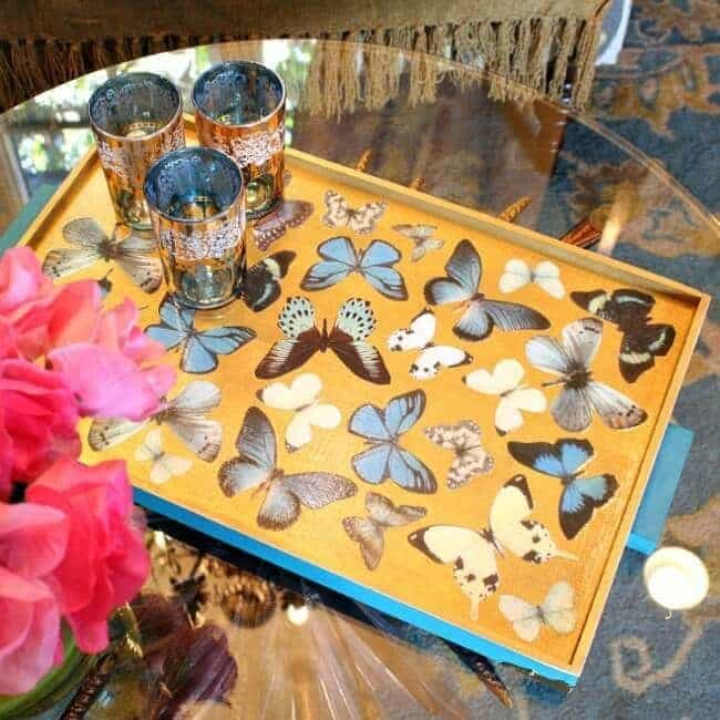 Resin Butterfly Tray