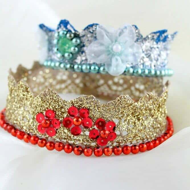 how to make your own lace crown