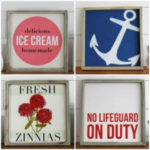 Summer Home Decor Signs for a Rustic Modern Look