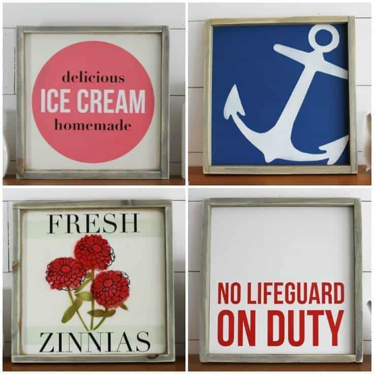 Summer Home Decor: Summer Home Decor Signs For A Rustic Modern Look