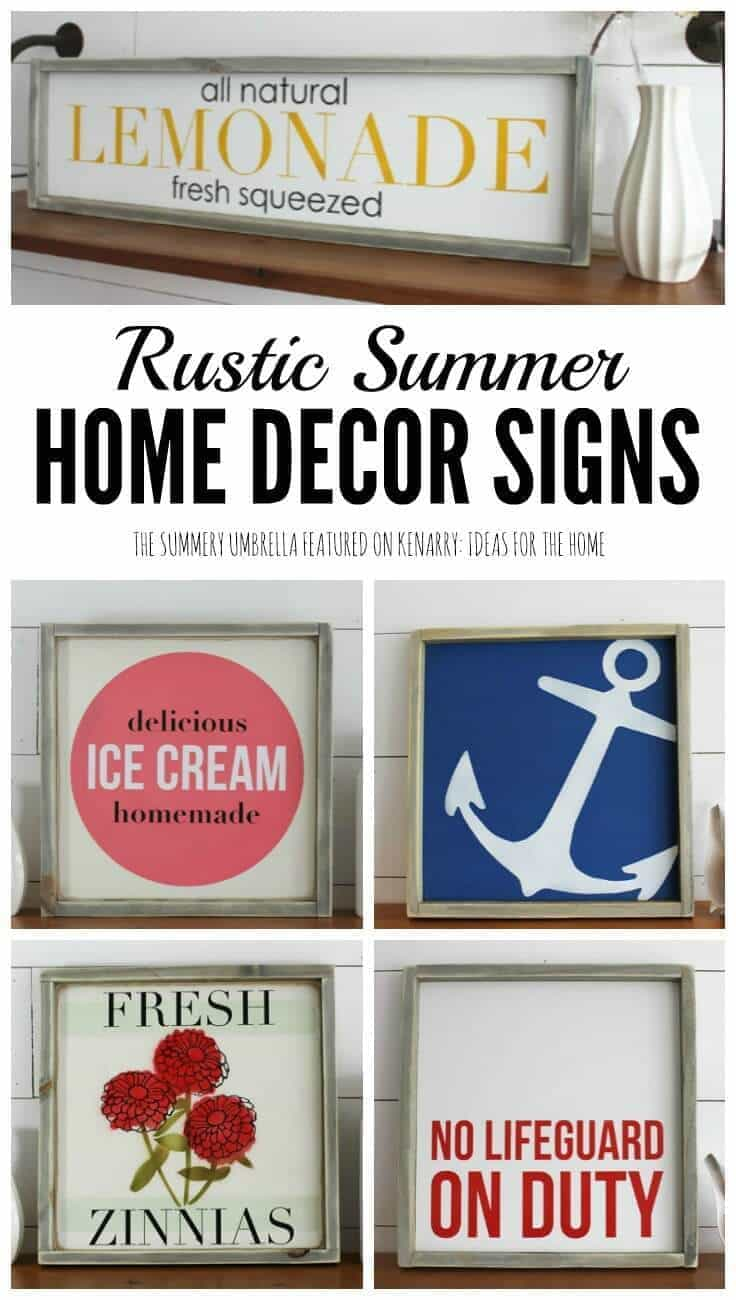 Summer home decor signs for a rustic modern look for Home decorators coupon may 2016