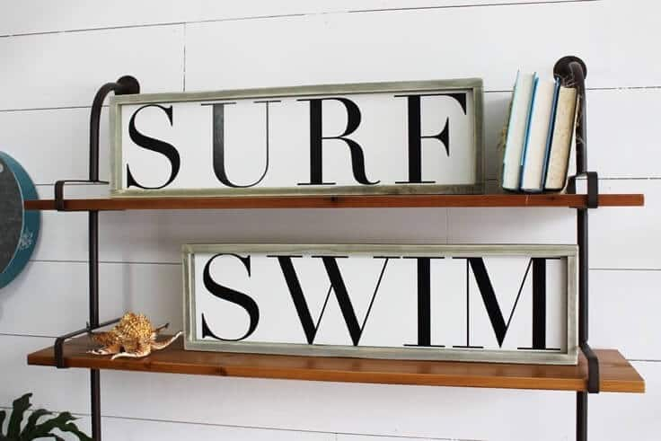 This sign is part of the Summer Sign Collection from The Summery Umbrella which offers rustic home decor with a twist of modern appeal.