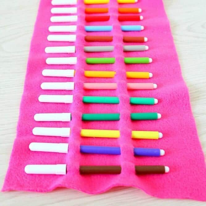 How to make a pencil roll case without sewing