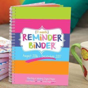 2016-17 Reminder Binder Calendar: Buy 1, Get 1 Free