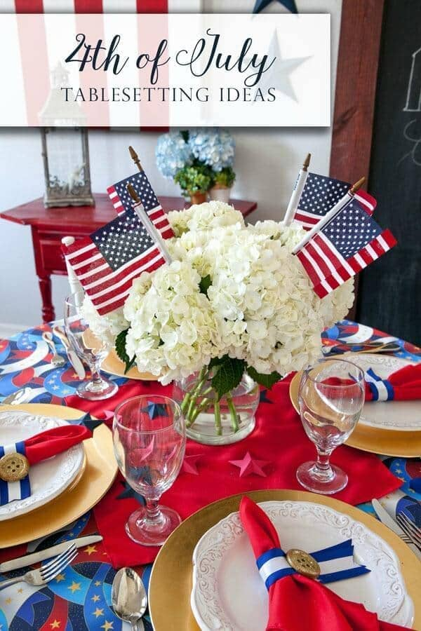 4th of July Centerpiece and Tablescape Inspiration – Frog Prince Paperie - 4th of July Party Decor featured on Kenarry.com