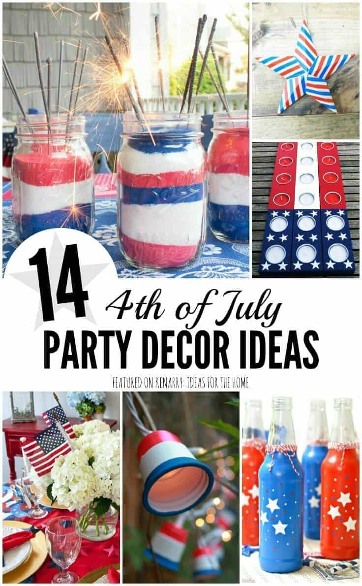So Many Great 4th Of July Party Ideas These Will Be Decorations
