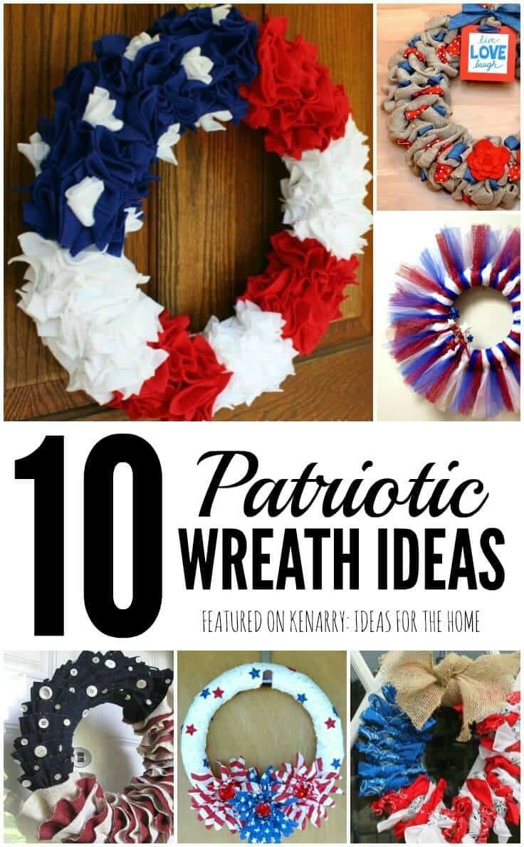 4th of july wreaths: 10 patriotic ideas for door decor