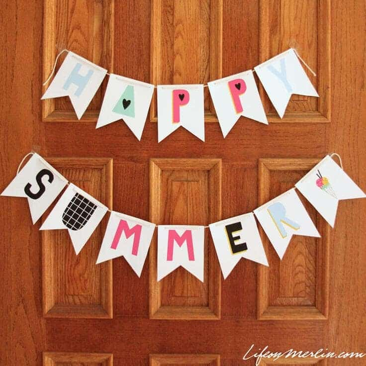 Instant Home Decor Summer Bunting Printable