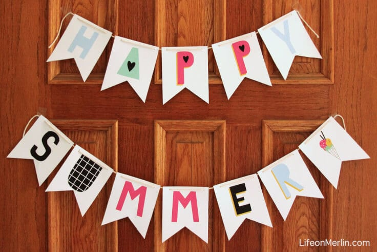Home Decor Summer Bunting Printable