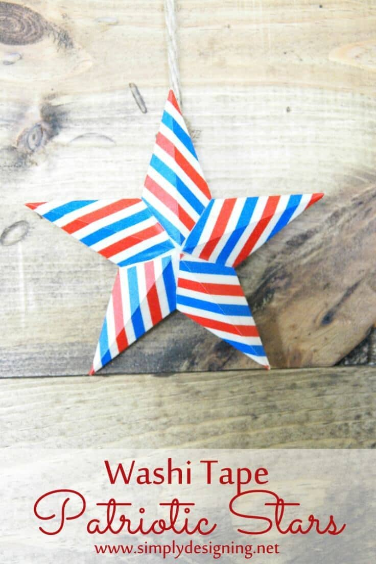 Washi Tape Patriotic Stars – Simply Designing - 4th of July Party Decor featured on Kenarry.com