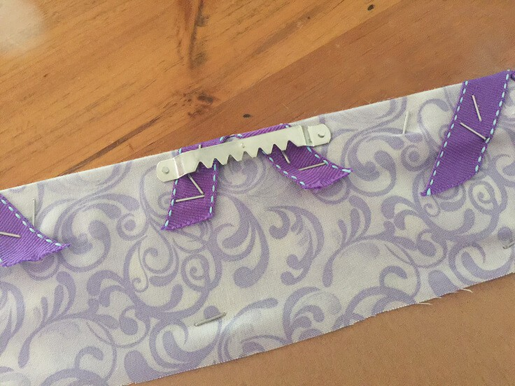 DIY ribbon bulletin board hanger